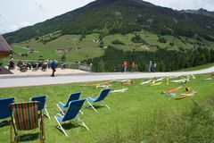 Ausblick von der Startwiese auf den gegenüberliegenden Hang beim Alpengasthof Tannenalm
